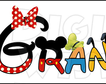 340x270 Disney Character Font Text Alphabet A Z Letters Digital Clip