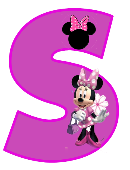 453x594 Minnie Free Alphabet In Purple. Alfabeto De Minnie