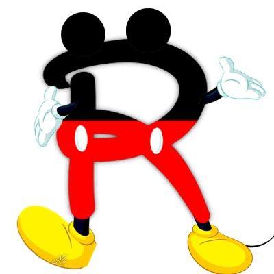 400x400 Original Alfabeto Inspirado En Mickey Mouse. Abc