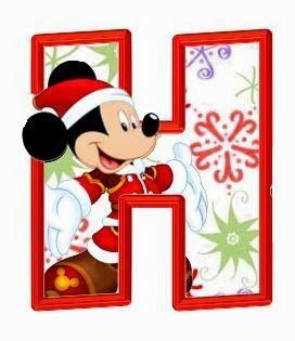 272x315 Alfabeto De Personajes Disney. Christmas Clip Art