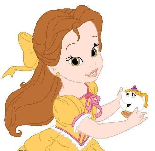 498x484 Disney Babies Clip Art Princess Belle ~ Popular Cartoon Disney