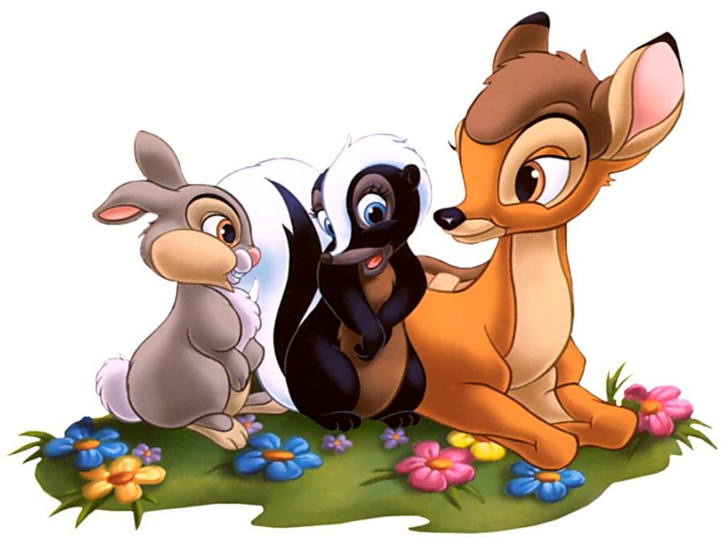 1024x768 Bambi Clipart Disney Wallpaper Free Collection Download