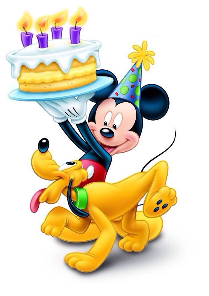 678x960 Mickey Mouse And Pluto Birthday Cake Birthday Clipart 2