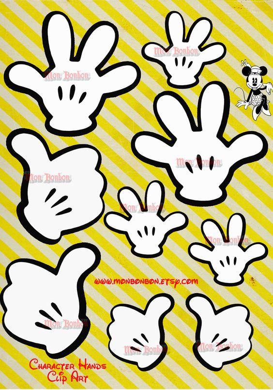 564x805 Disney Mickey Hand Clipart