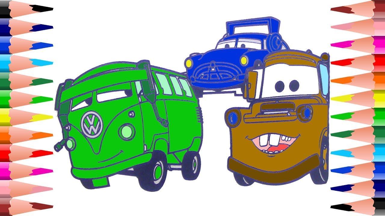 1280x720 Painting Disney Pixar Cars Coloring Book For Kids