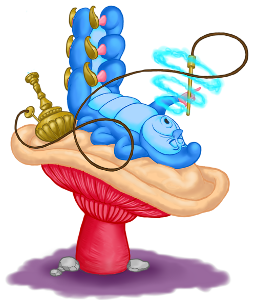 500x587 Caterpillar From Alice In Wonderland Clipart