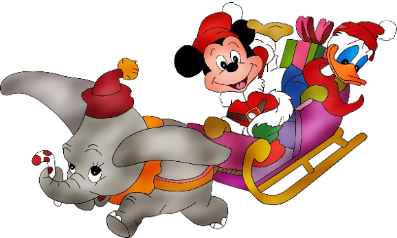 578x347 Christmas Disney Dumbo Mickey Mouse Donald Duck ~