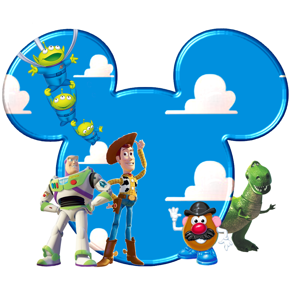 952x917 Toy Story In Mickey Heads. Etiket Toy And Disney