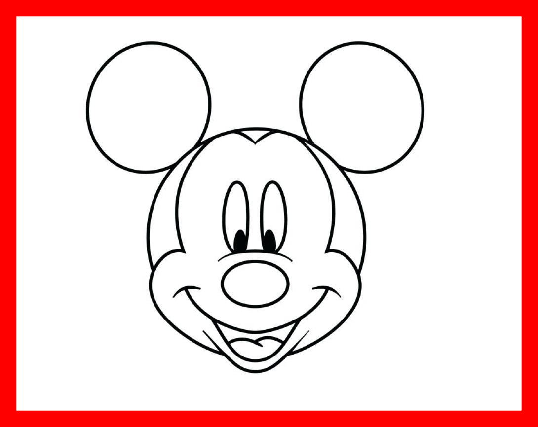 1090x866 The Best Template Mickey Mouse Head Printable Face Coloring Pages