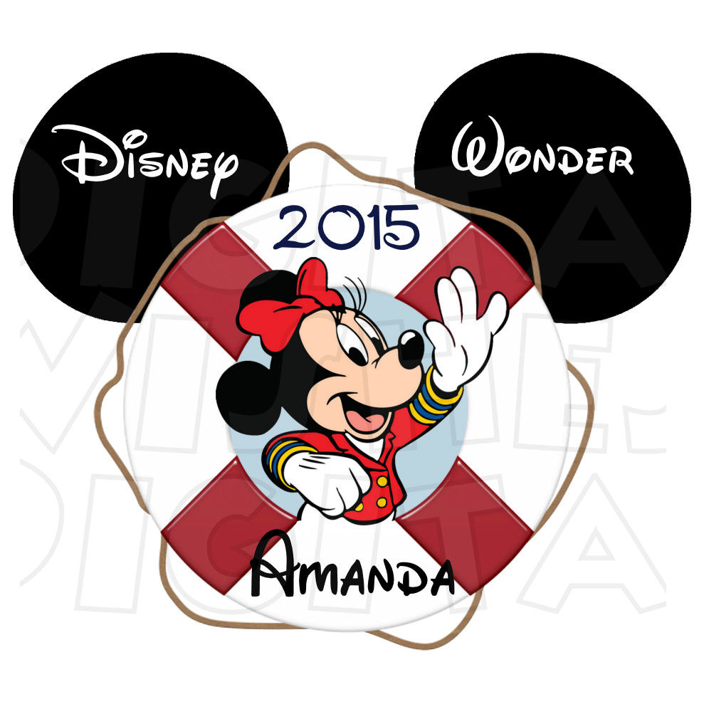 996x996 Sailor Minnie Mouse Ears Head Personalized Disney Cruise Line