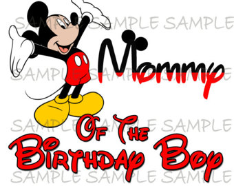 340x270 Mickey Mouse First Birthday Boy Image Printable Clip Art Iron