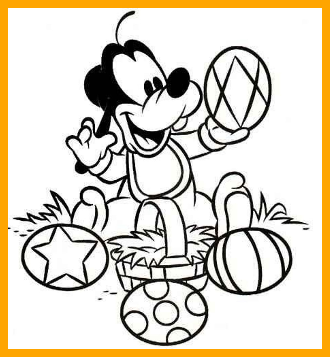 1352x1464 Best Printable Goofy Coloring Pages For Kids Cool Bkids Disney