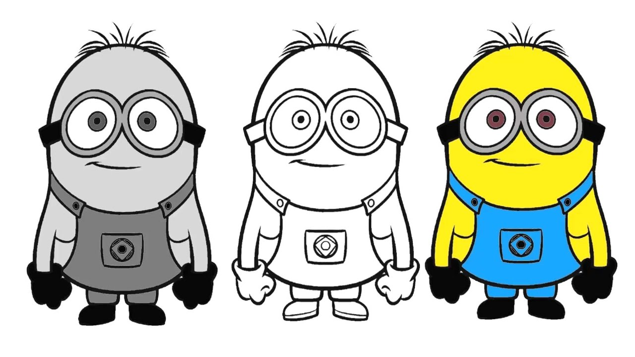 1280x720 How To Draw And Color Minions Coloring Pages! Coloring Pages
