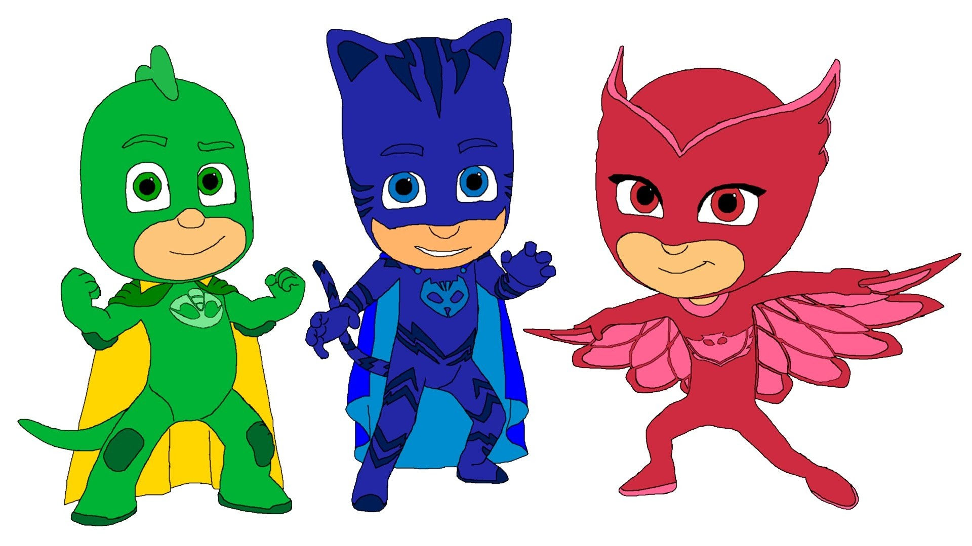 1920x1080 Coloring Pages For Pj Masks New Pj Masks Coloring Pages
