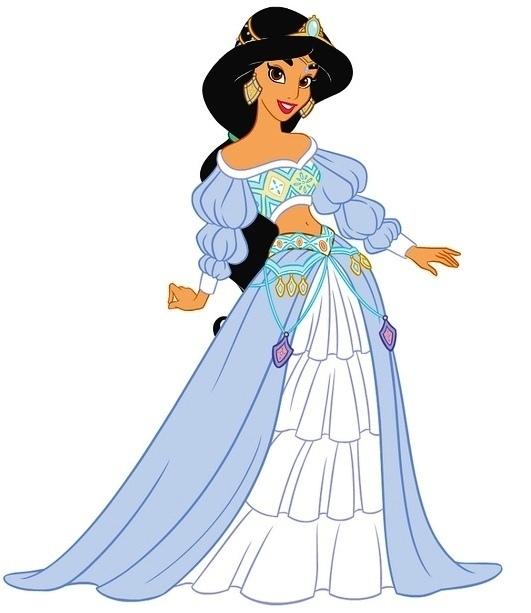 531x613 Princess Jasmine Clipart Disney Wedding