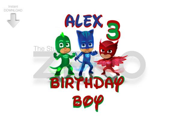 570x428 Disney Junior P J Masks Clipart Birthday Boy Iron