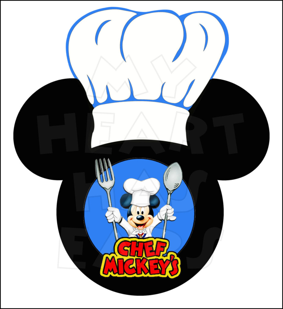 938x1024 Chef Mickey's Mickey Mouse With Chef Hat Instant Download Digital