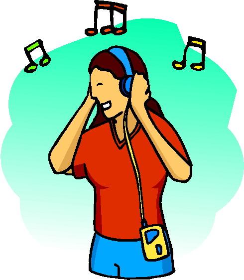 490x562 Clip Art Activities Listening To Music