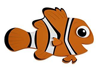 355x237 Disney Nemo Shaped Wall Art, Orange Baby