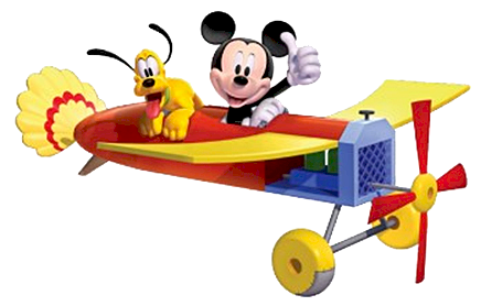 436x278 Mickey Mouse Clipart Plane