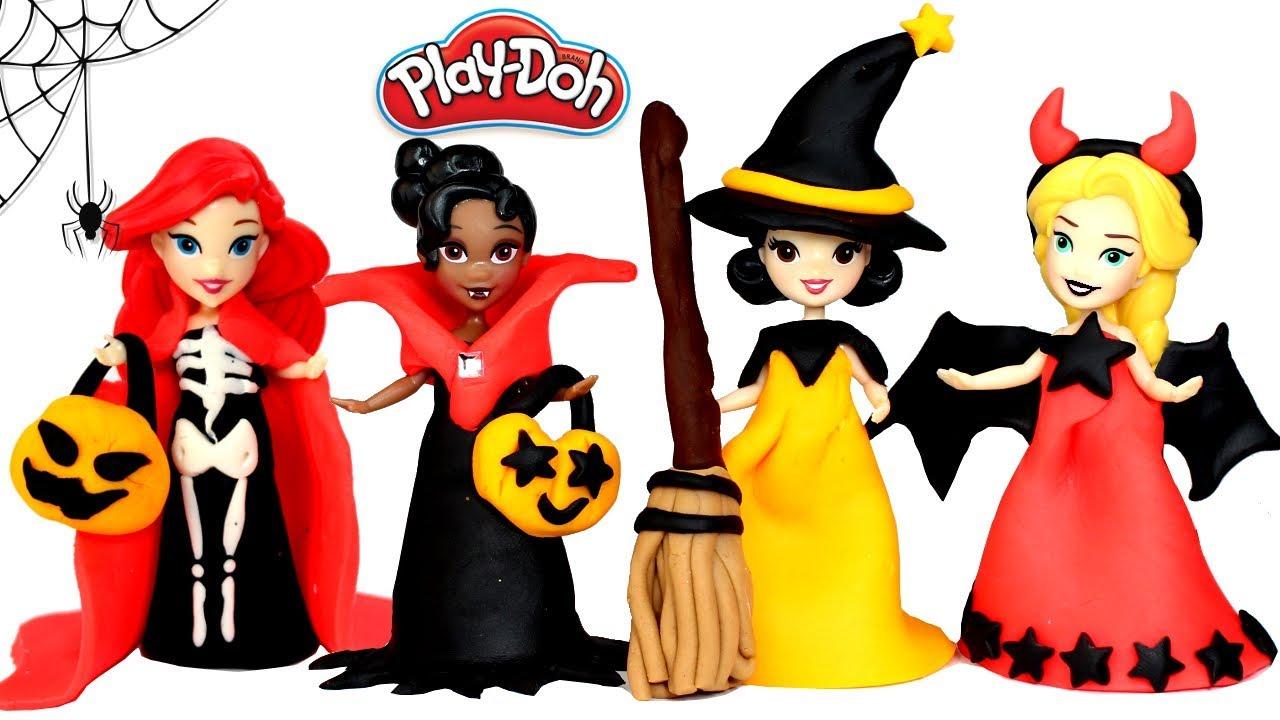 1280x720 Disney Princess Play Doh Halloween Costumes Diy Play Doh Dresses