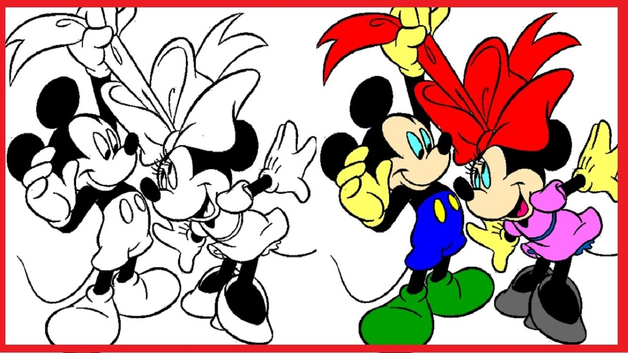 1280x720 Mickey Mouse Coloring Pages