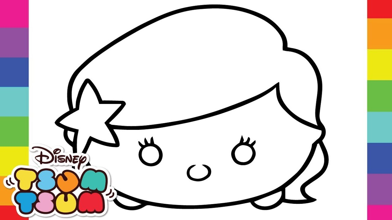 1280x720 Spotlight Tsum Coloring Pages Printable For Unk On Tsum Coloring