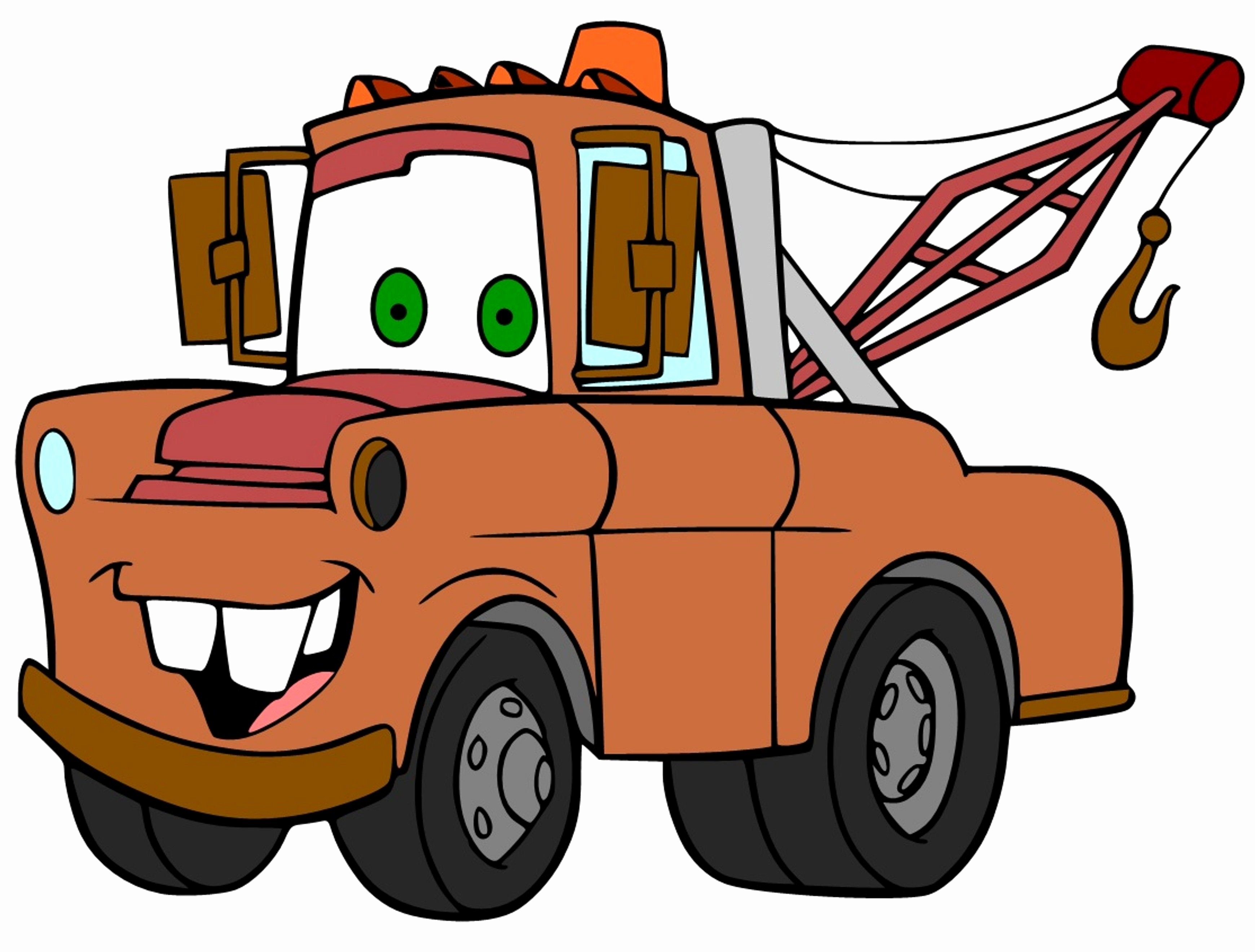 3480x2640 Coloring Picture Of Mater From Cars New Adult Mater Colouring