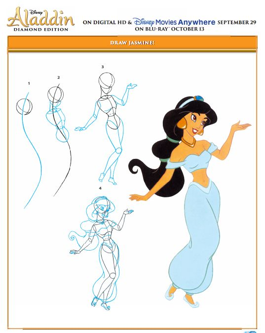 537x675 Disney's Aladdin Printables And Coloring Pages + Diamond Edition