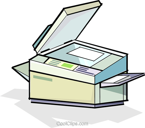 480x423 Photocopier Royalty Free Vector Clip Art Illustration Vc065087