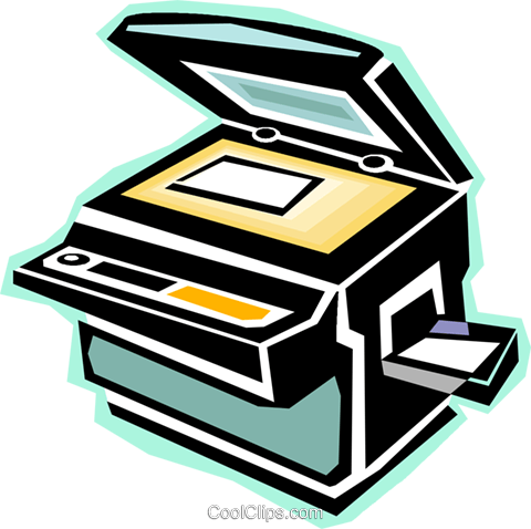 480x478 Photocopy Machine Royalty Free Vector Clip Art Illustration