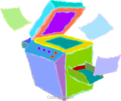 480x400 Photocopy Machines Royalty Free Vector Clip Art Illustration