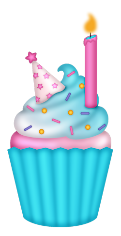 250x487 Sd Birthday Diva B Daycupcake2.png Party Cupcakes, Clip Art
