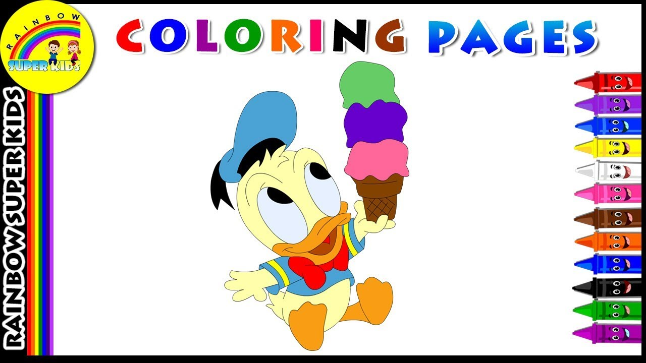 1280x720 Donald Duck Coloring Pages Disney Coloring Book For Children