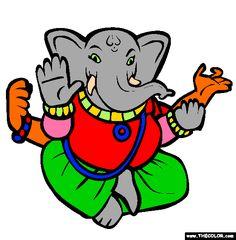 236x240 Ganesha Coloring Pages Ganesha