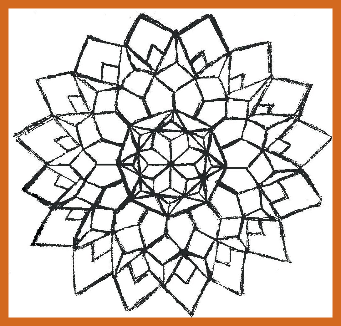 1090x1042 Awesome Coloring Pages Geometry Geometric Colouring For Pics