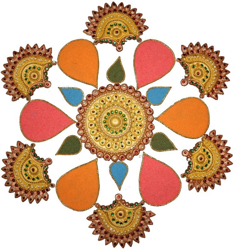 748x800 Beautiful And Creative Diwali Rangoli Decoration Craft Ideas