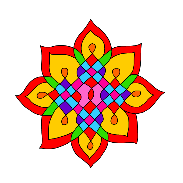 600x600 Collection Of Diwali Rangoli Design Clipart High Quality
