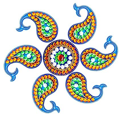 425x405 Buy Unique Arts Beautiful Carry Shaped Multicolor Acrylic Rangoli