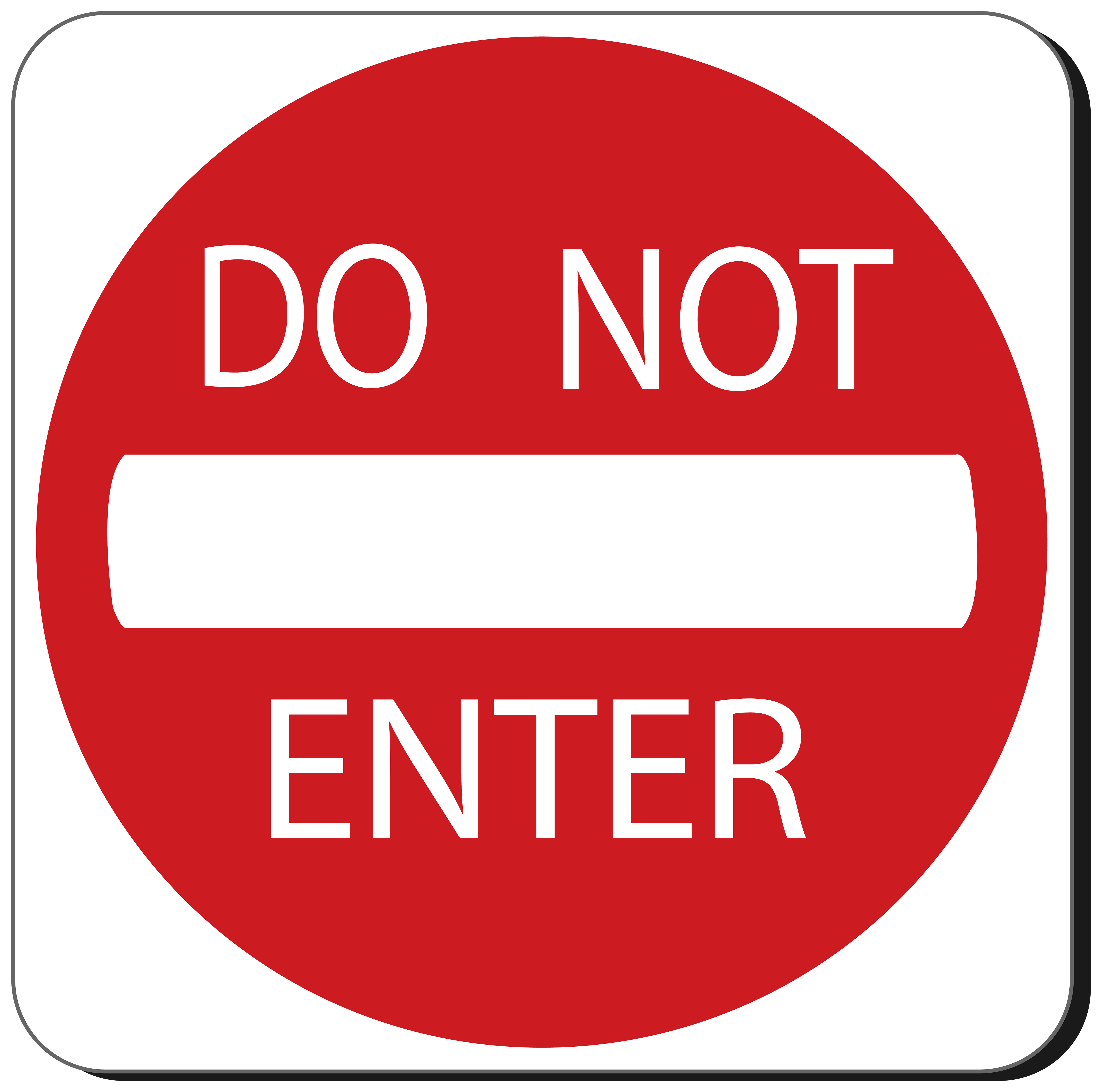 5000x4955 Do Not Enter Sign Png Clipart