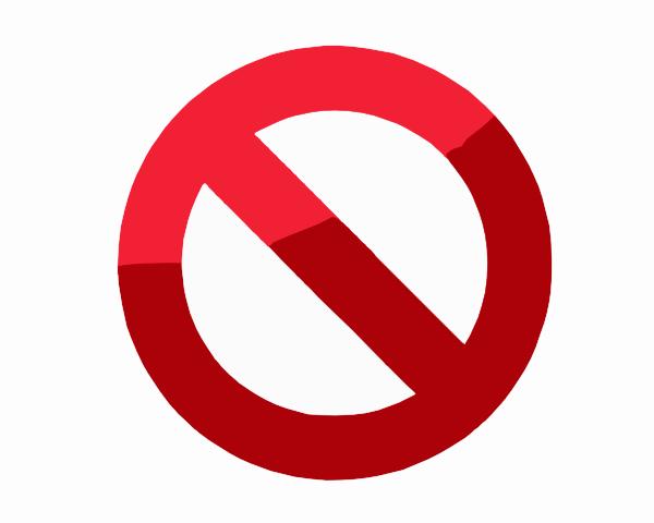 600x480 Do Not Symbol Clip Art