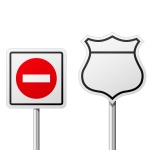 150x150 Do Not Park Sign Royalty Free Vector Clip Art Image