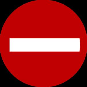 300x300 Do Not Enter Clip Art