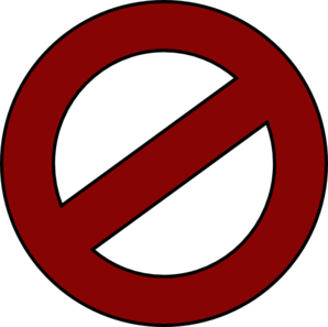 298x297 Do Not Enter Road Sign Clipart
