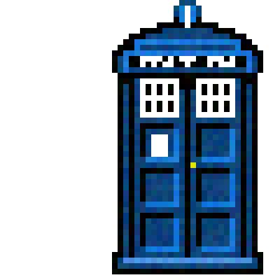 400x400 Pixel Art Tardis [100x100 Pixel]