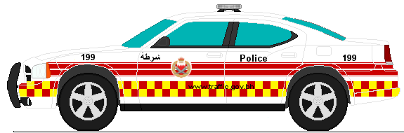 575x190 Dodge Charger Bahrain Police Traffic By Agentsmith66