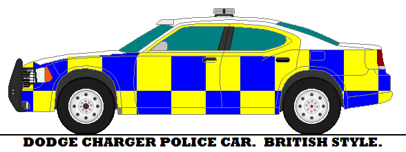 588x221 Dodge Charger Police Car. British Style. By Mcspyder1