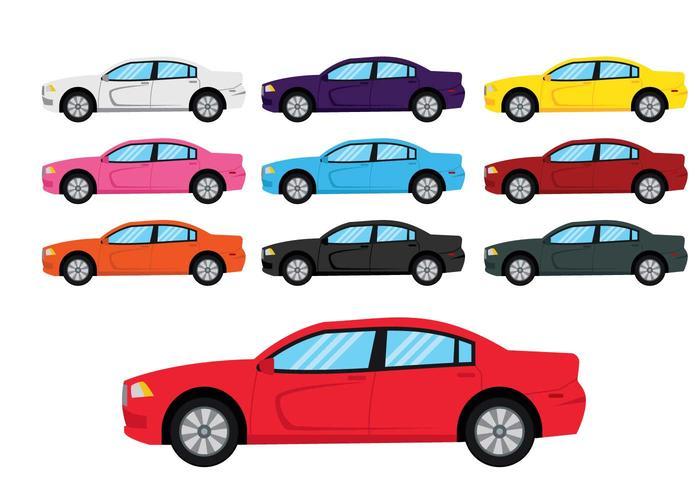 700x490 Dodge Charger Car Illustration Set