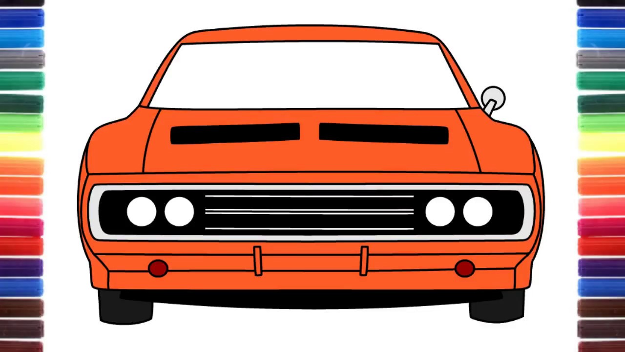 1280x720 How To Draw A Car Dodge Charger 1970 From Fast Amp Furious 7 Front