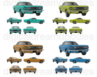 340x270 Mustang Clipart Etsy